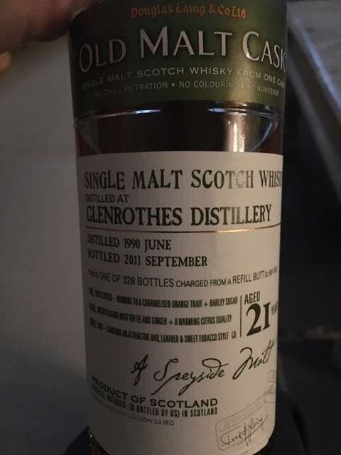 The Glenrothes 21 year old 1991
