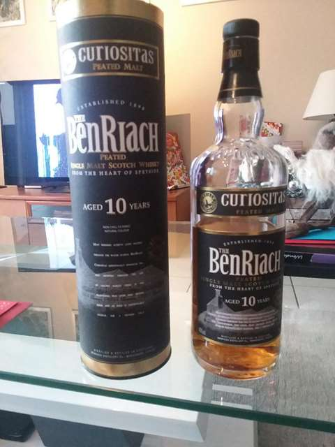 The BenRiach 10 year old Curiositas Peated