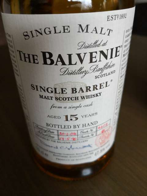 The Balvenie 15 year old 1990/2008 cask 9208