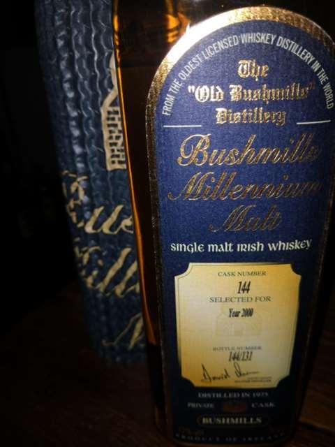 Bushmills 25 year old 1975/2000 Millennium Malt cask 144