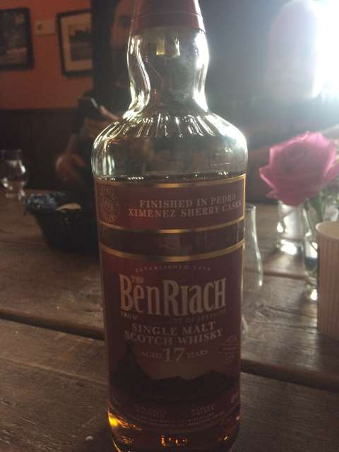The BenRiach 17 year old Pedro Ximenez Sherry Wood Finish