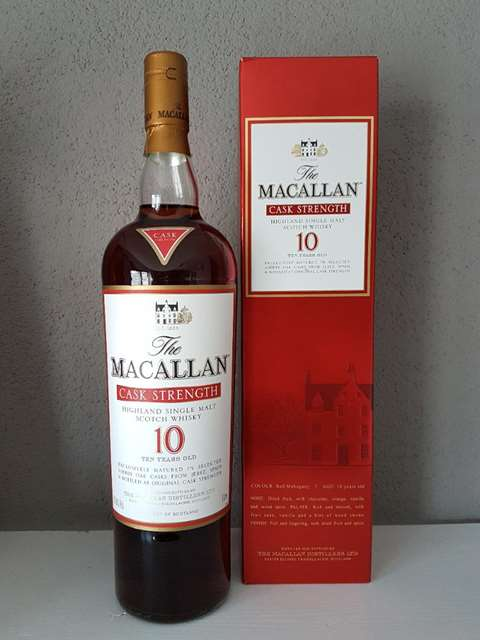 The Macallan 10 year old Cask Strength 58.7%