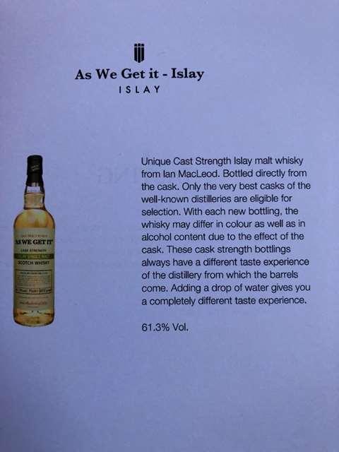As We Get It Islay Single Malt 61.3