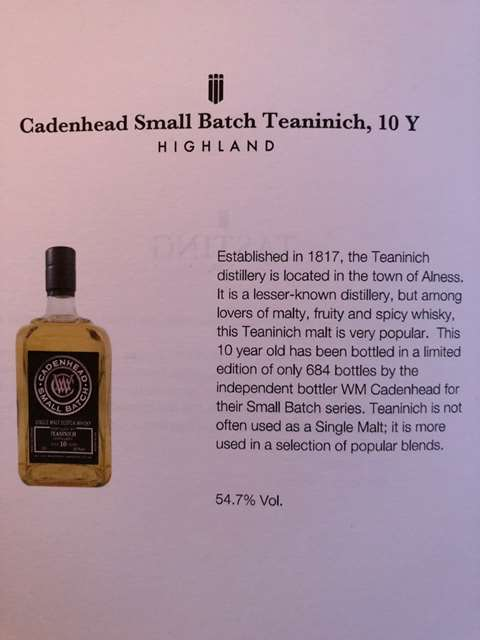 Teaninich 10 year old 2006/2016