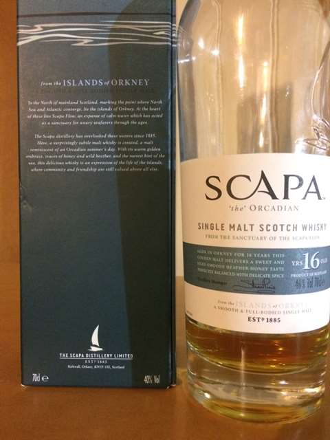 Scapa 16 year old The Orcadian