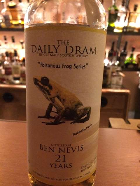 Ben Nevis 21 year old Phyllobates Bicolor - Daily Dram