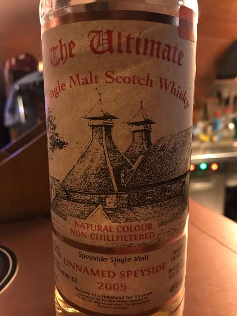 The Ultimate Whisky Company 13 year old 2005/2018 Unnamed Orkney cask DRU 17/A63-55