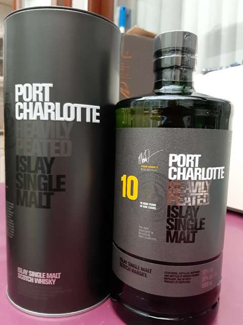 Port Charlotte 10 year old Heavily Peated 2018 Release