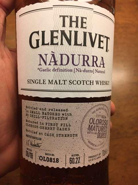 The Glenlivet 2014 Nàdurra Oloroso