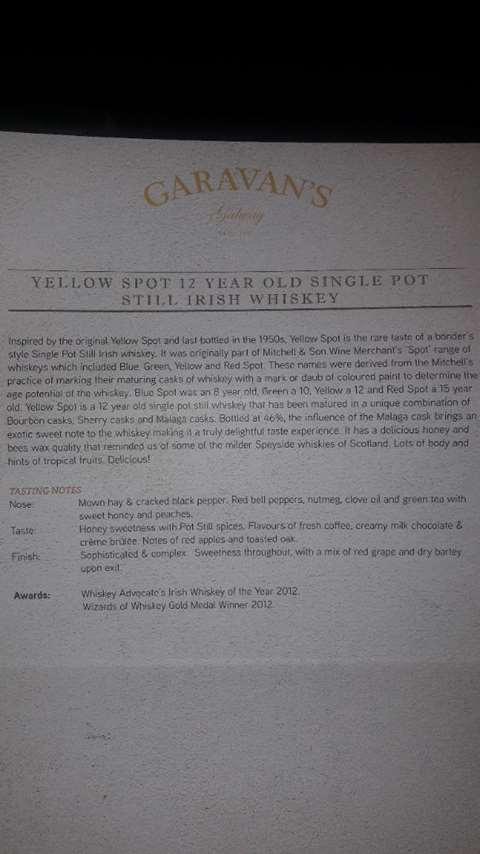 Spot Whiskeys 12 year old Yellow Spot