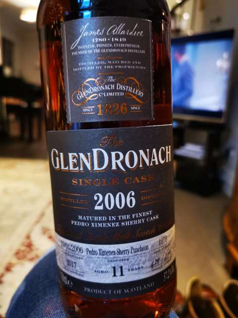 The GlenDronach 11 year old 2006/2017 Batch 16 cask 1979