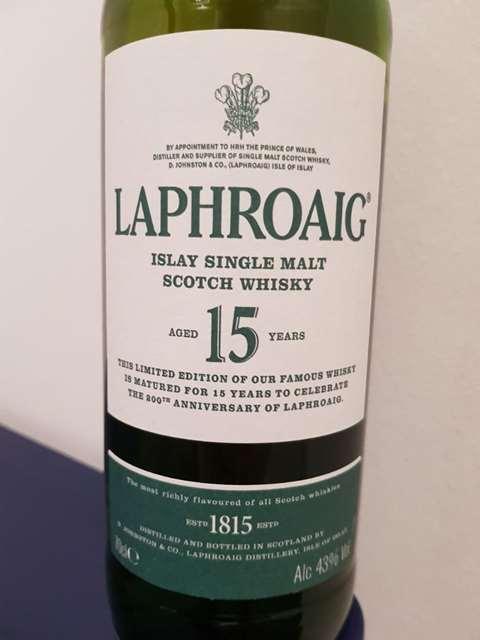 Laphroaig 15 year old 200th Anniversary Edition