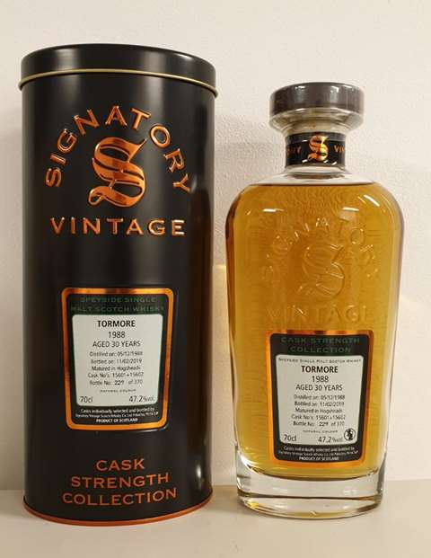 Tormore 30 year old 1988/2019 cask 15601 & 15602 - Signatory