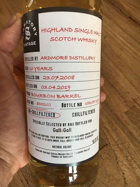 Ardmore 10 year old 2008/2019 cask 800197