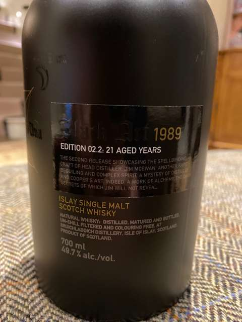 Bruichladdich 21 year old 1989 Black Art Edition 02.2